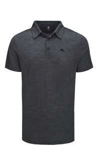 Macpac Lydon 145 Merino Blend Polo — Men's, Charcoal Marle, hi-res