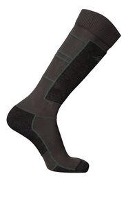 Macpac Tech Ski Socks, Charcoal/Kombu Green, hi-res