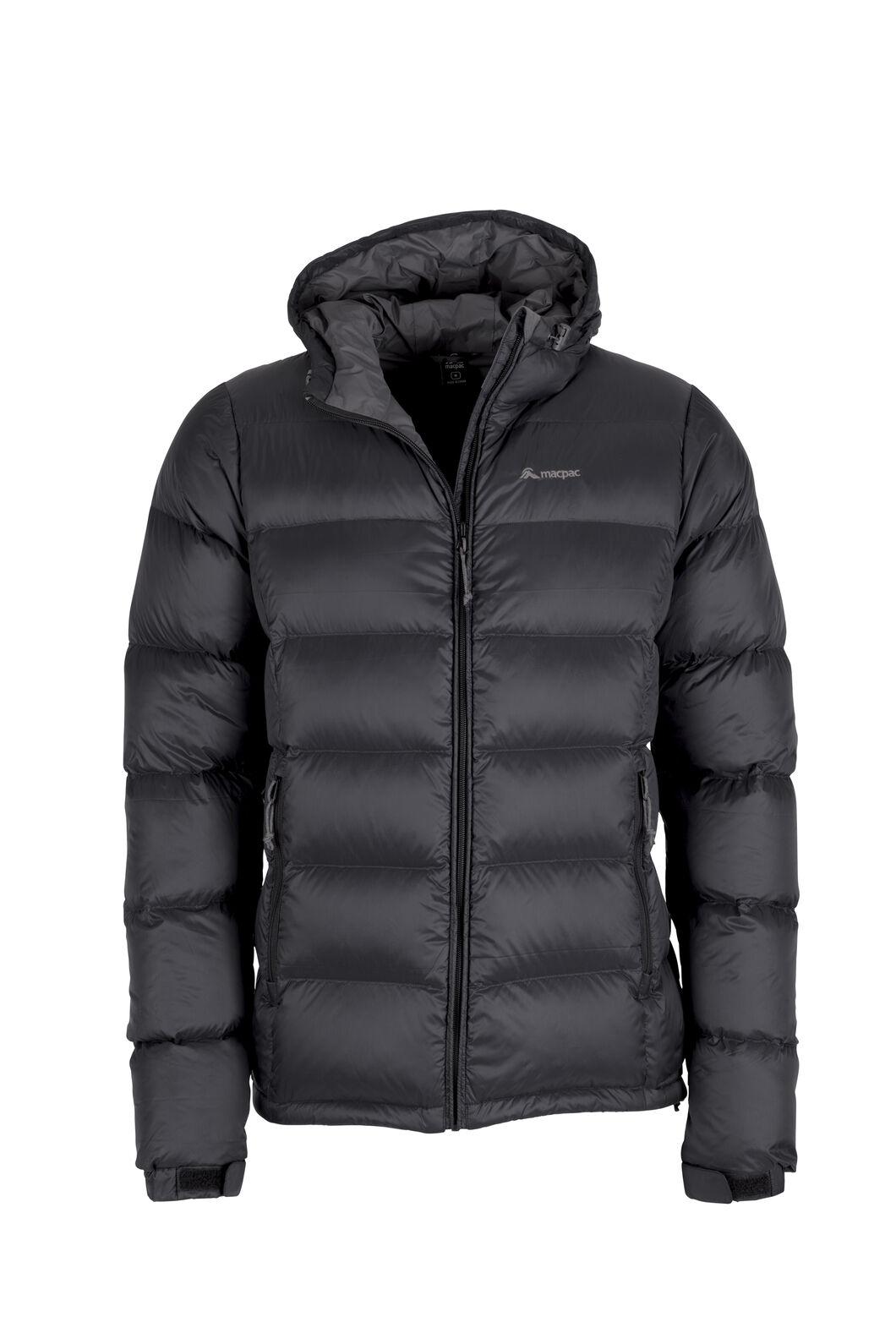 Macpac Halo Hooded Down Jacket — Men's, Black, hi-res