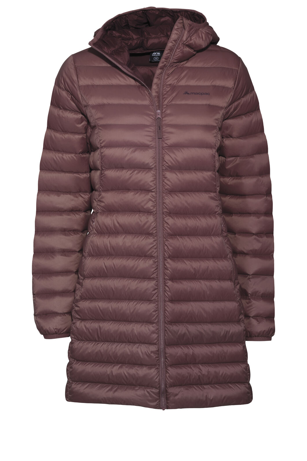 Macpac Uber Light Hooded Down Coat — Women's, Rose Brown, hi-res