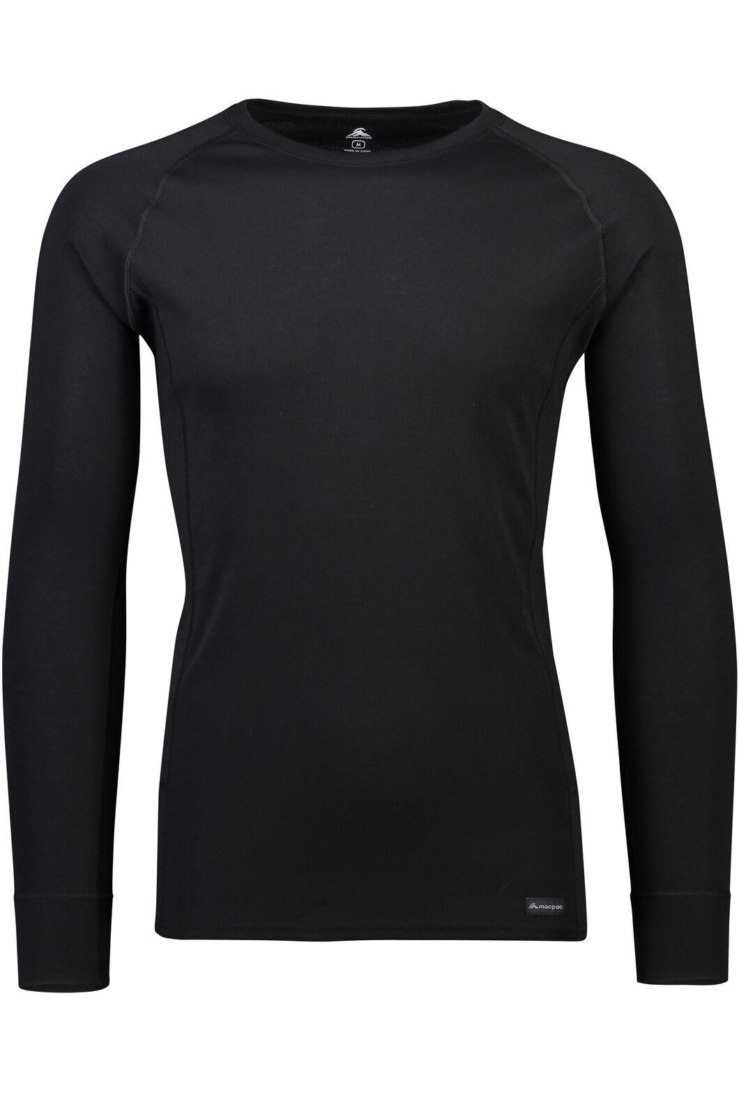Macpac Geothermal Long Sleeve Top - Men's, Black, hi-res