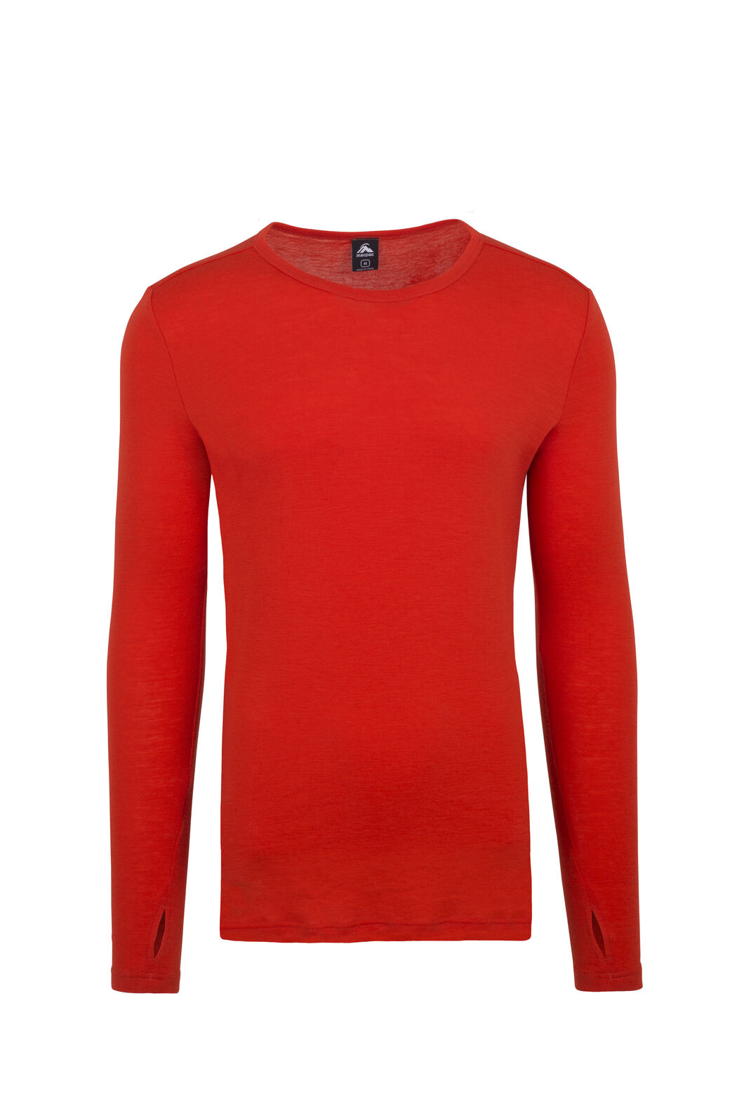 Macpac 220 Merino Long Sleeve Top — Men's, Spicy Orange, hi-res