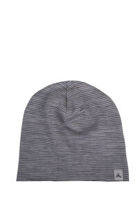 Macpac Merino 150 Beanie - Baby, Light Grey Stripe, hi-res