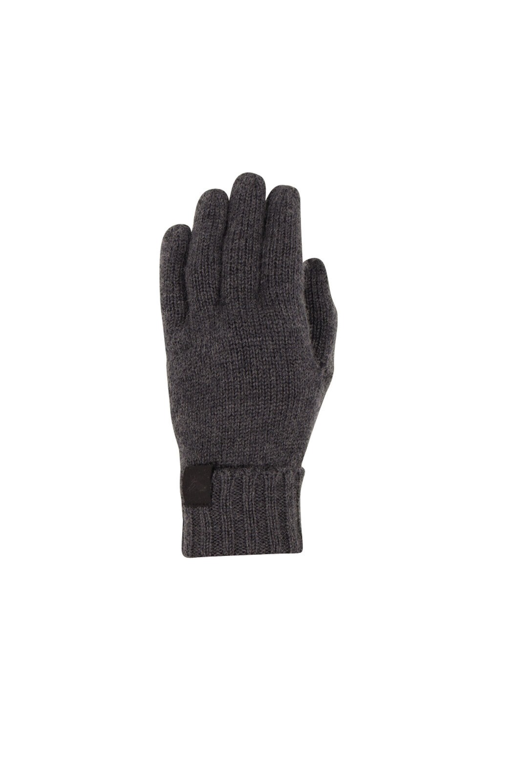 Macpac Merino Knit Gloves V2, Charcoal Melange, hi-res