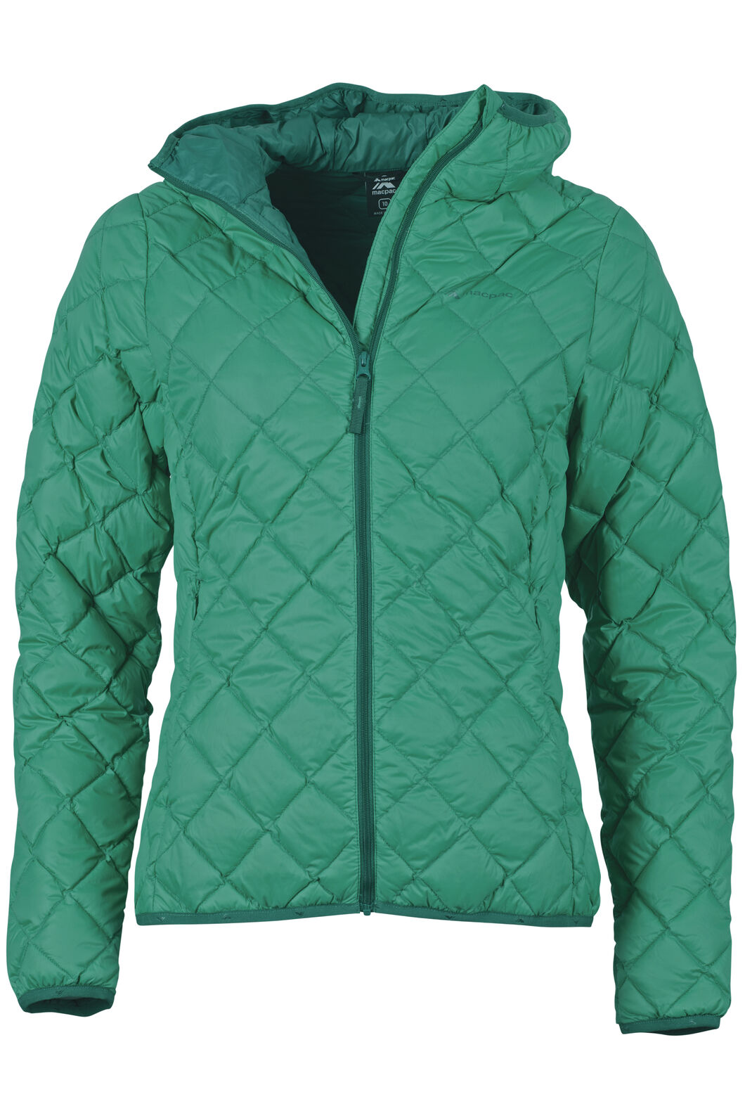 Macpac Uber Light Hooded Down Jacket - Women's, Arcadia, hi-res