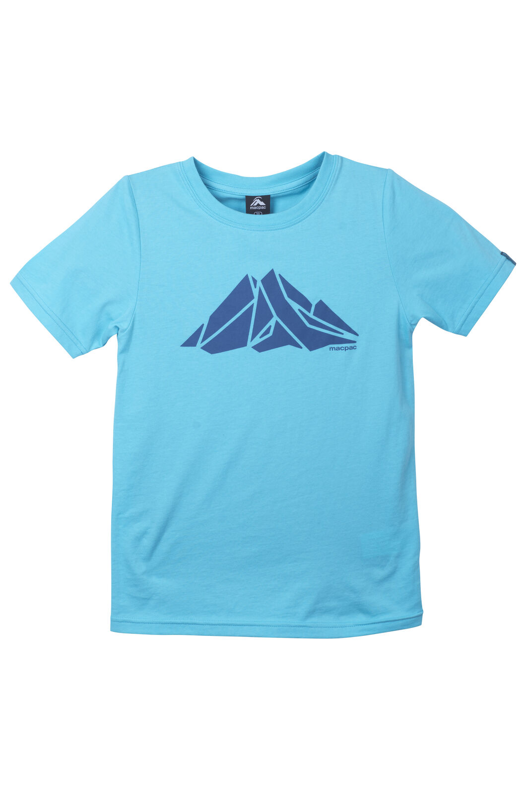 Macpac Screen Print Organic Cotton Tee - Kids', Blue Curacao, hi-res