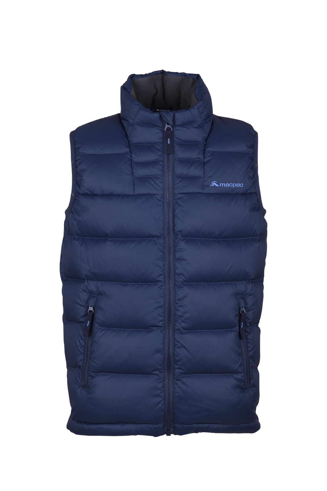 Macpac Atom Down Vest — Kids', Black Iris, hi-res
