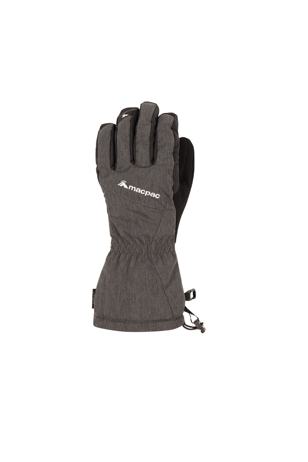 Macpac Carve Ski Gloves, Black, hi-res
