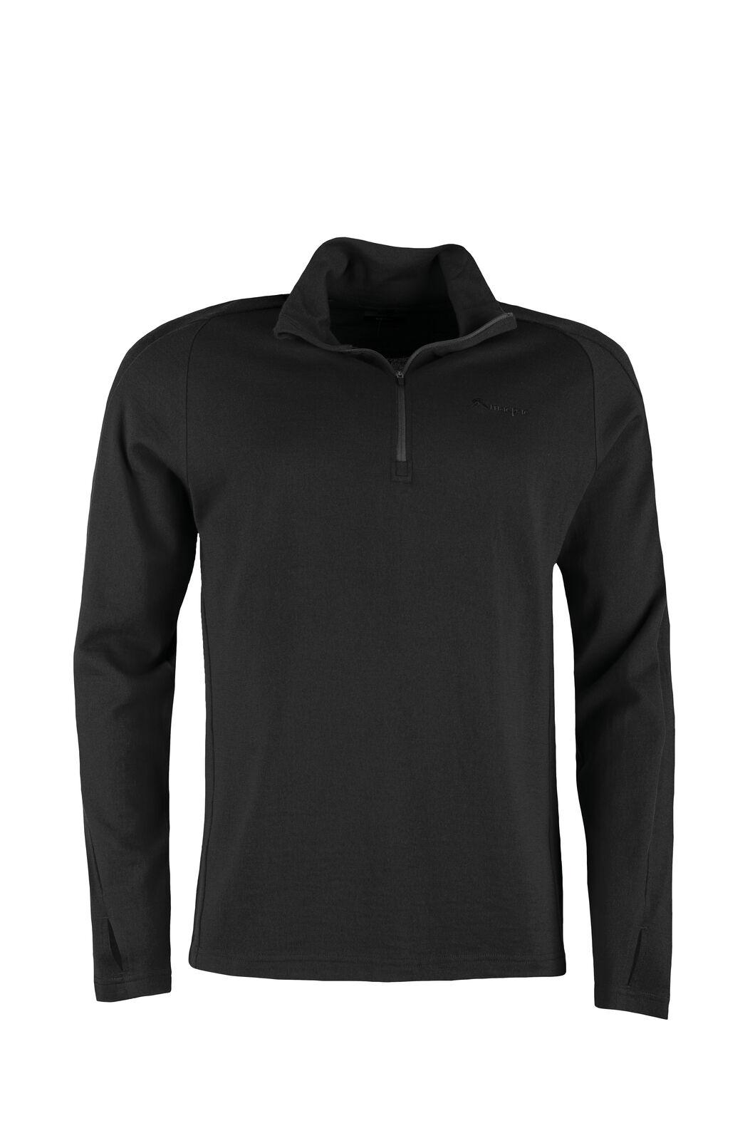 Macpac Kauri 280 Merino Pullover — Men's, Black, hi-res