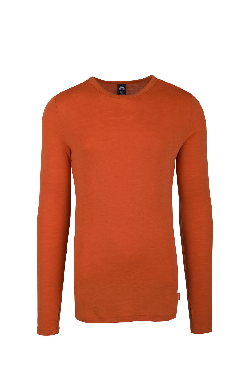 Macpac 220 Merino Long Sleeve Top - Men's, Burnt Orange, hi-res