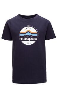 Macpac Kids' Retro Fairtrade Organic Cotton Tee, BLUE NIGHTS, hi-res