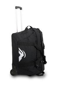 Macpac 80L Wheeled Duffel Bag, Black, hi-res