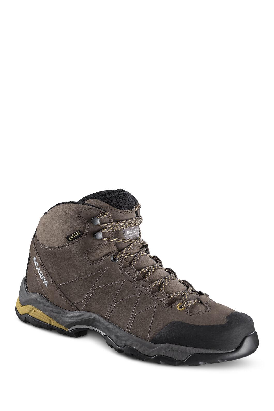Scarpa Men's Moraine Plus GTX Hiking Boots, Charcoal/SulphurGreen, hi-res