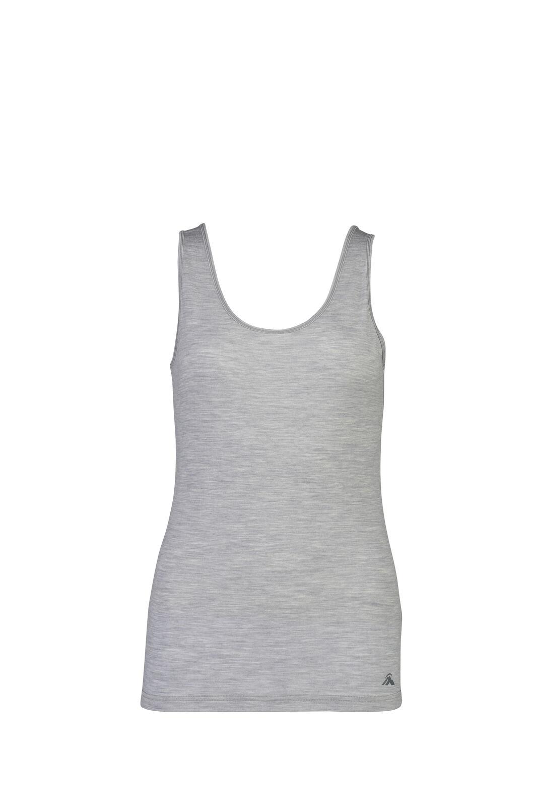Macpac 150 Merino Singlet — Women's, Light Grey Marle, hi-res