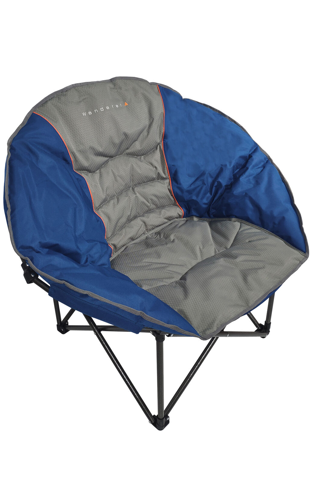 Wanderer Moon Quad Folding Camping Chair, Navy/Grey, hi-res