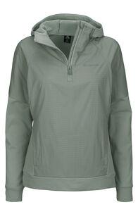 Macpac Saros Polartec® Alpha® Hooded Pullover — Women's, Aqua Gray, hi-res