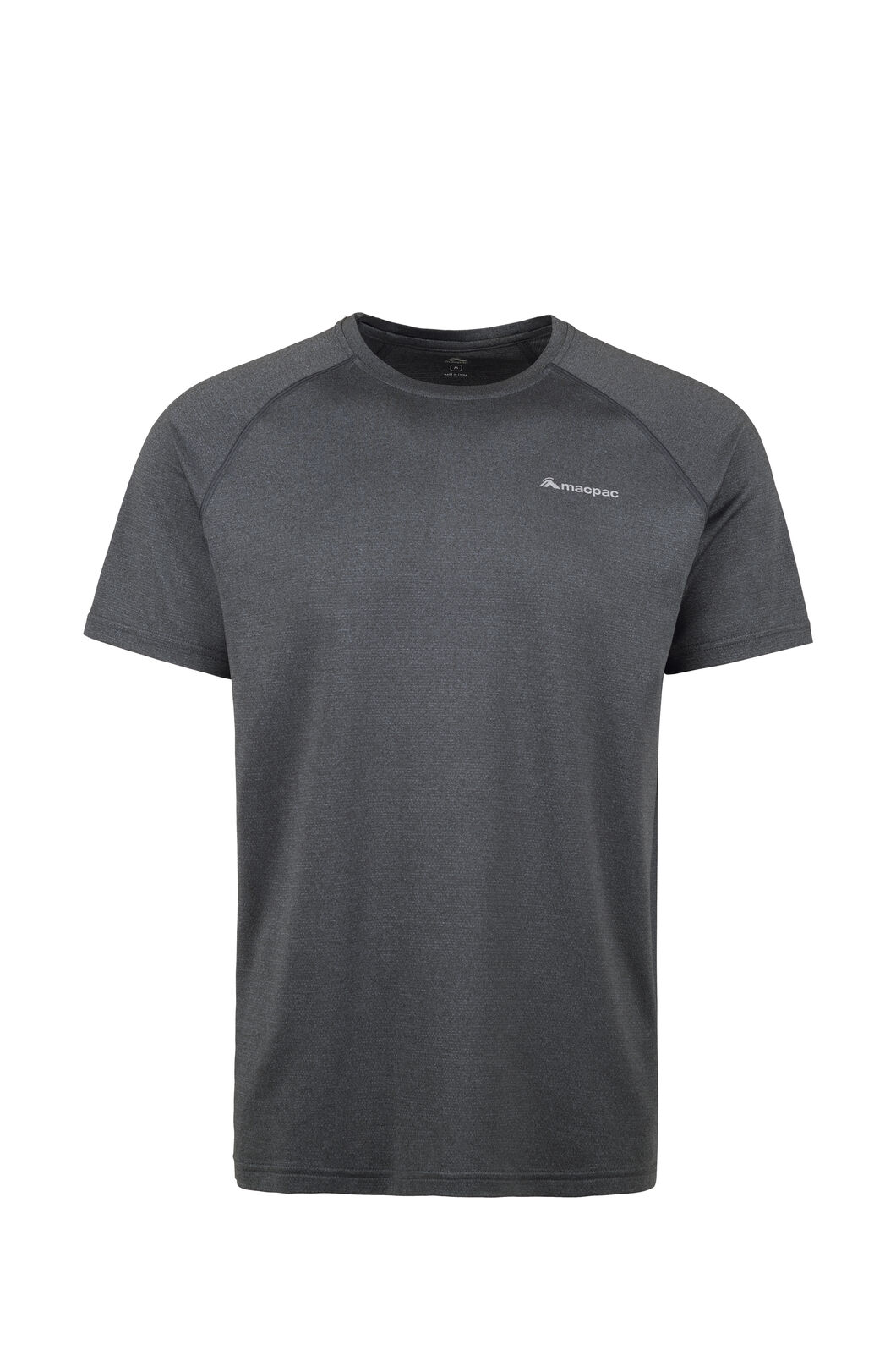 Macpac Eyre Short Sleeve Tee — Men's, Black, hi-res