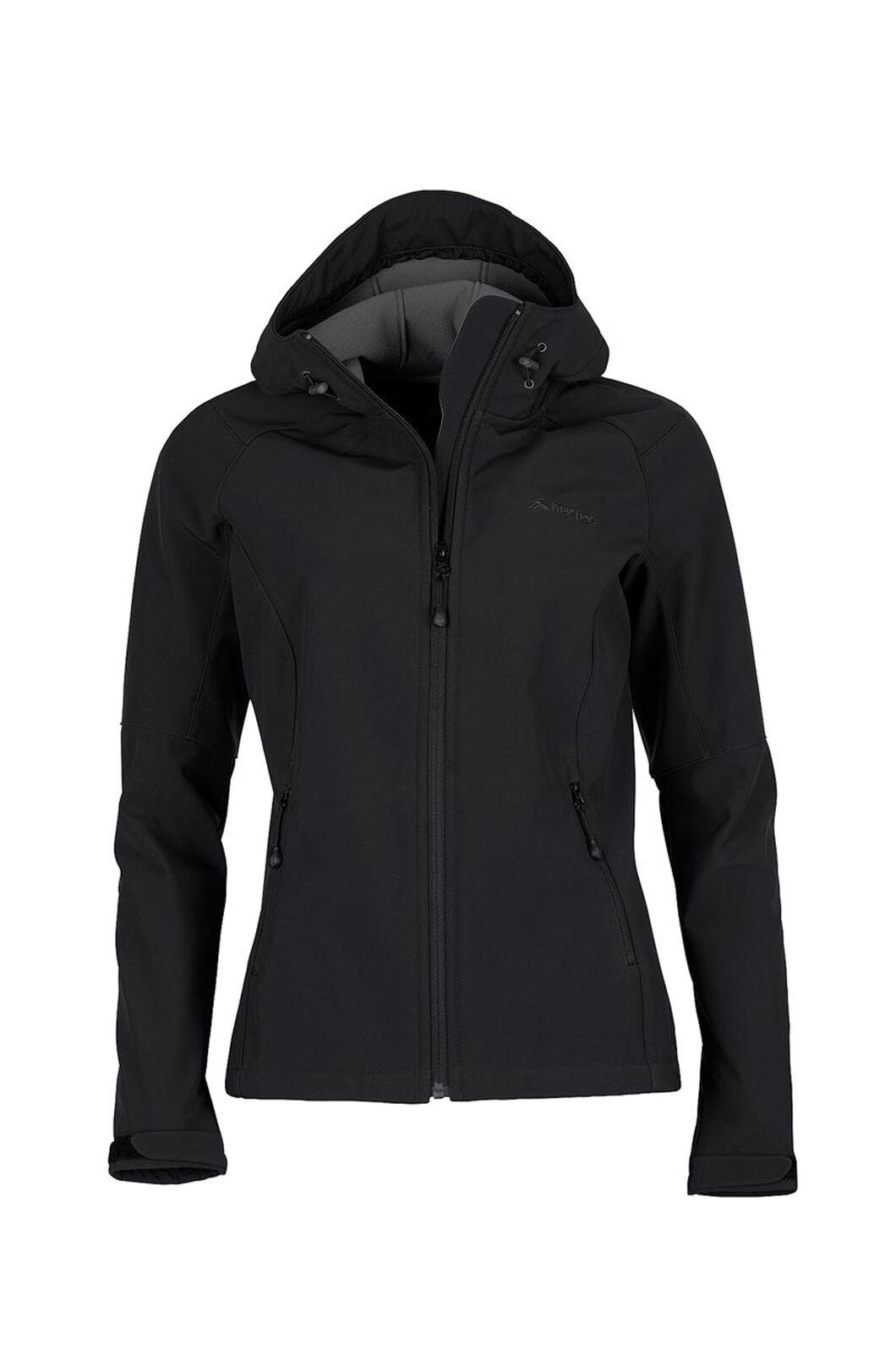 b0e97fa3 Macpac Sabre Hooded Softshell Jacket - Women's, Black, ...