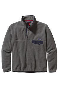 Patagonia Men's Lightweight Synchilla® Snap-T® Fleece Pullover, Nickel/Navy Blue, hi-res
