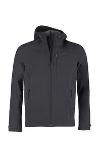 Macpac Sabre Hooded Softshell Jacket — Men's, Black, hi-res
