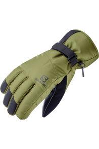 Salomon Force Dry Men's Ski Gloves, Martini Olive/Ebony, hi-res