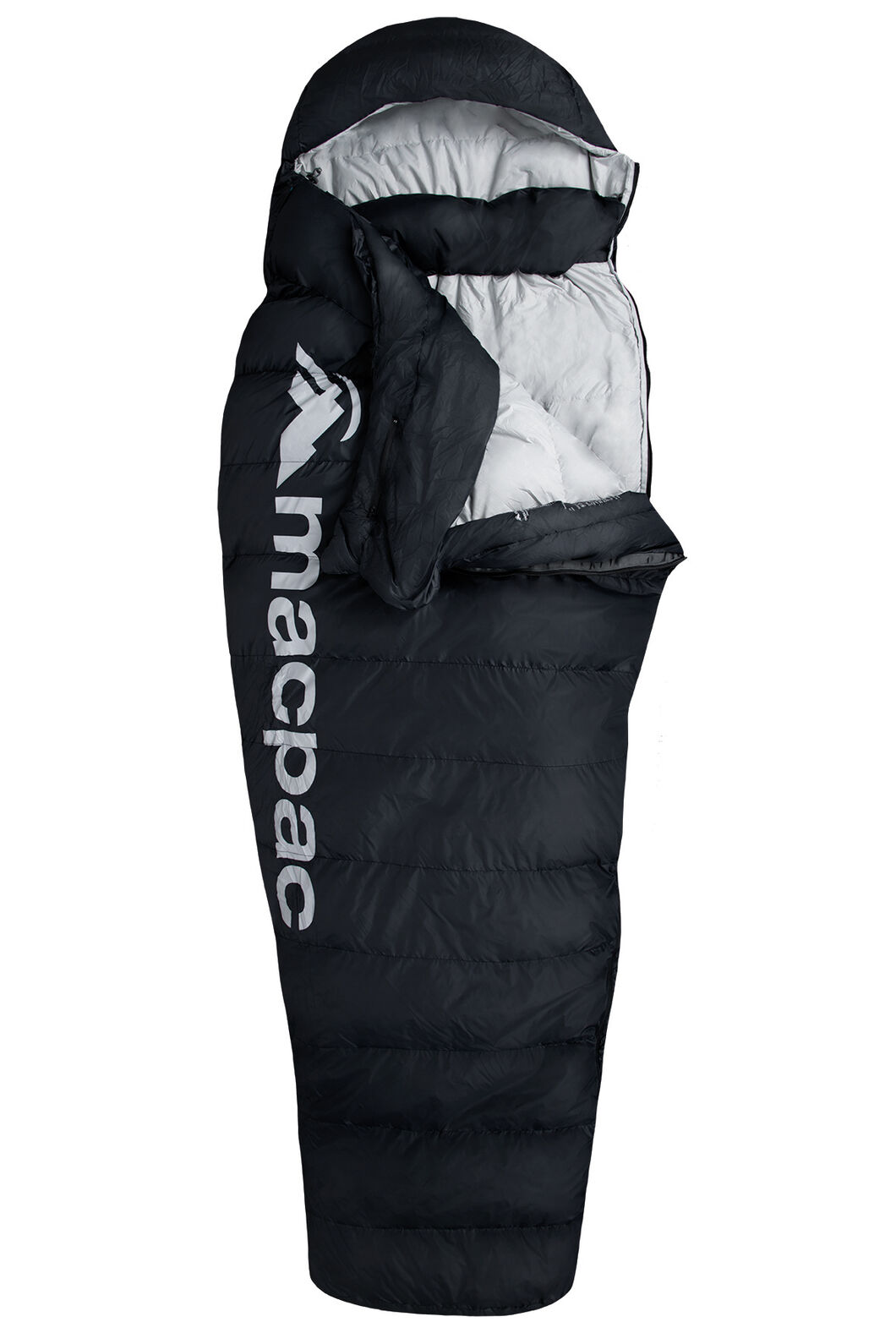Macpac Overland Down 400 Sleeping Bag - Standard, Black, hi-res