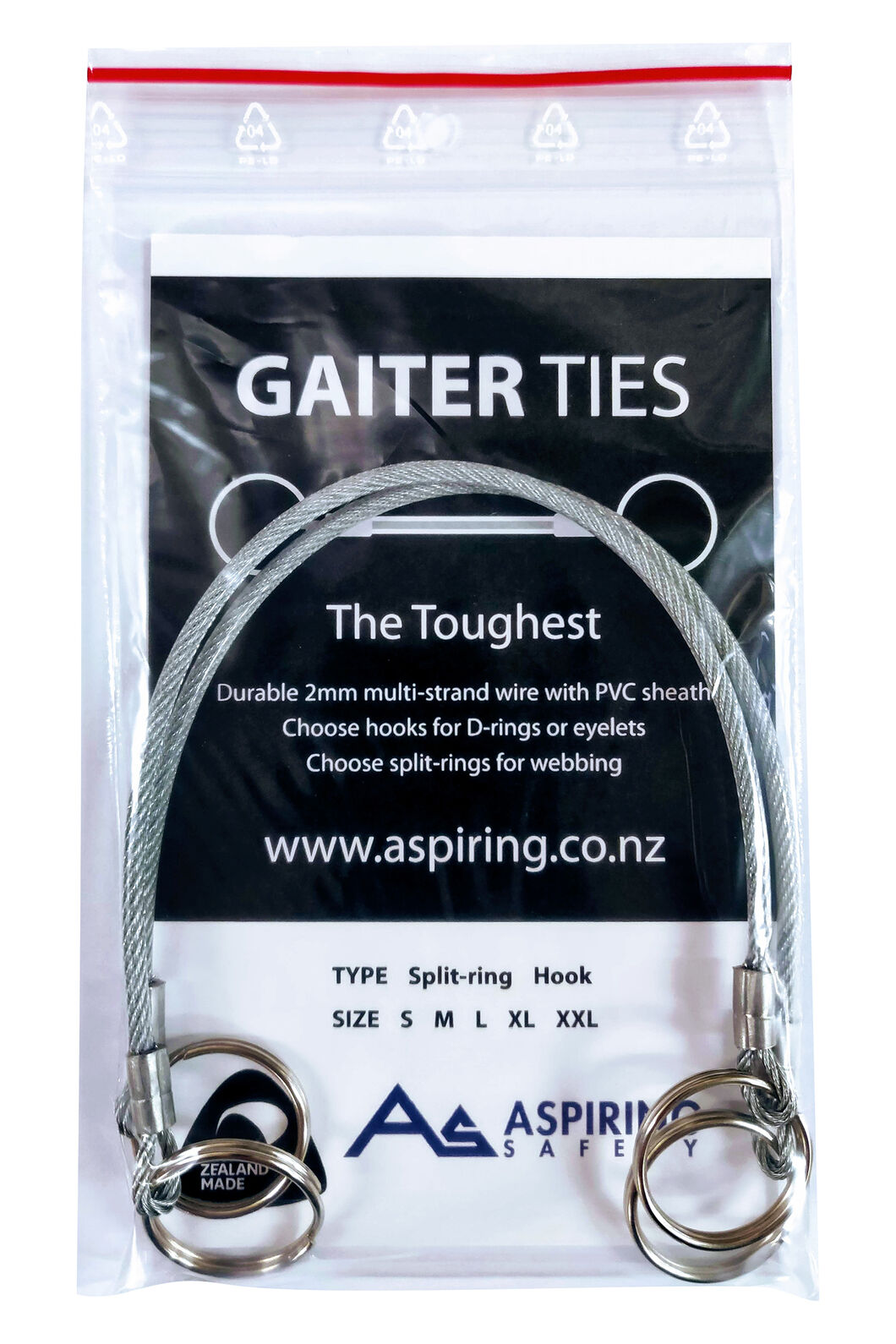 Aspiring Safety Gaiter Ties, None, hi-res