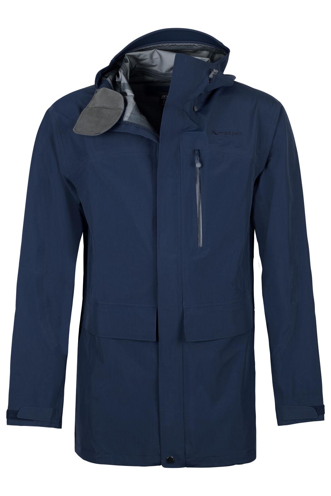 Resolution Pertex Shield® Long Rain Jacket - Men's, Black Iris, hi-res