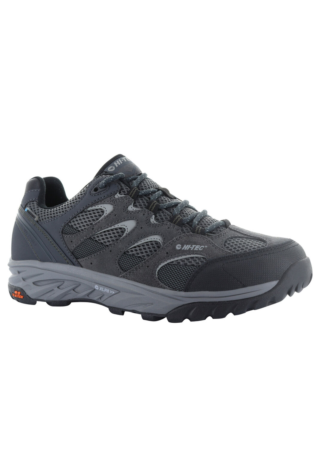 Hi-Tec Wild-Fire Low I WP - Men's, Charcoal/Black/Olive Night, hi-res