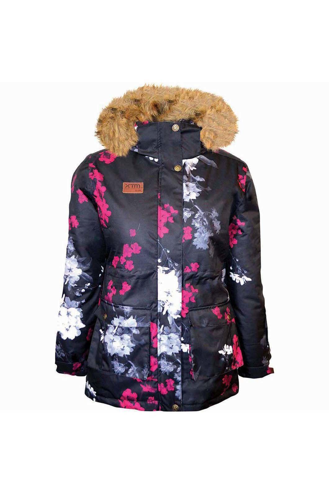 XTM Kids' Madison Jacket  Floral, Black Print, hi-res