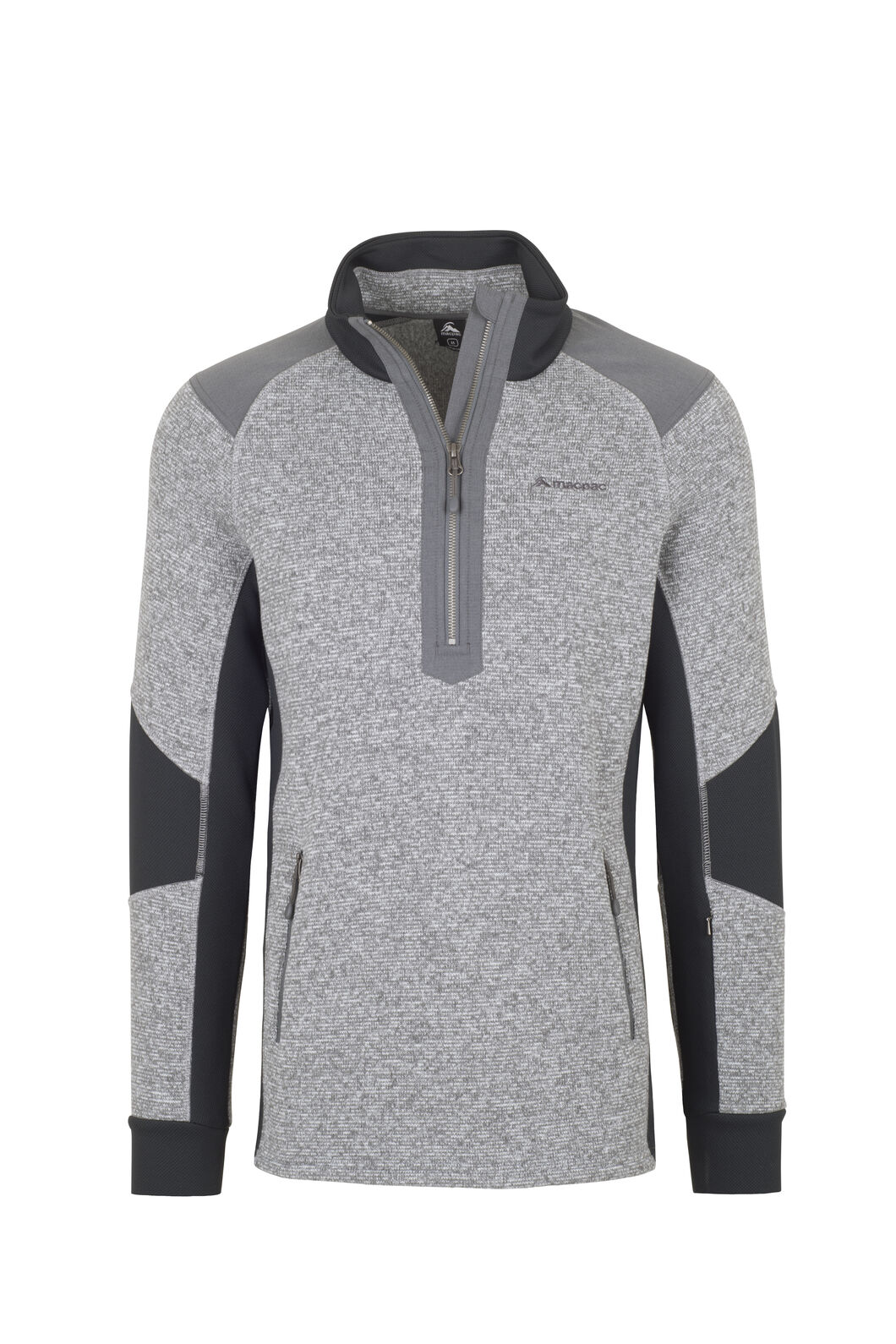 Macpac Club Field Fleece - Men's, Monument, hi-res