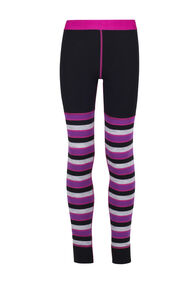 Macpac 220 Merino Long Johns — Kids', Purple Stripe, hi-res