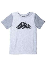 Screen Print Organic Cotton Tee - Kids', Light Grey Marle, hi-res