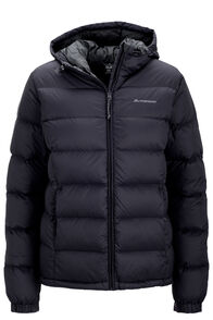 Women's Halo Hooded Down Jacket, Black, hi-res