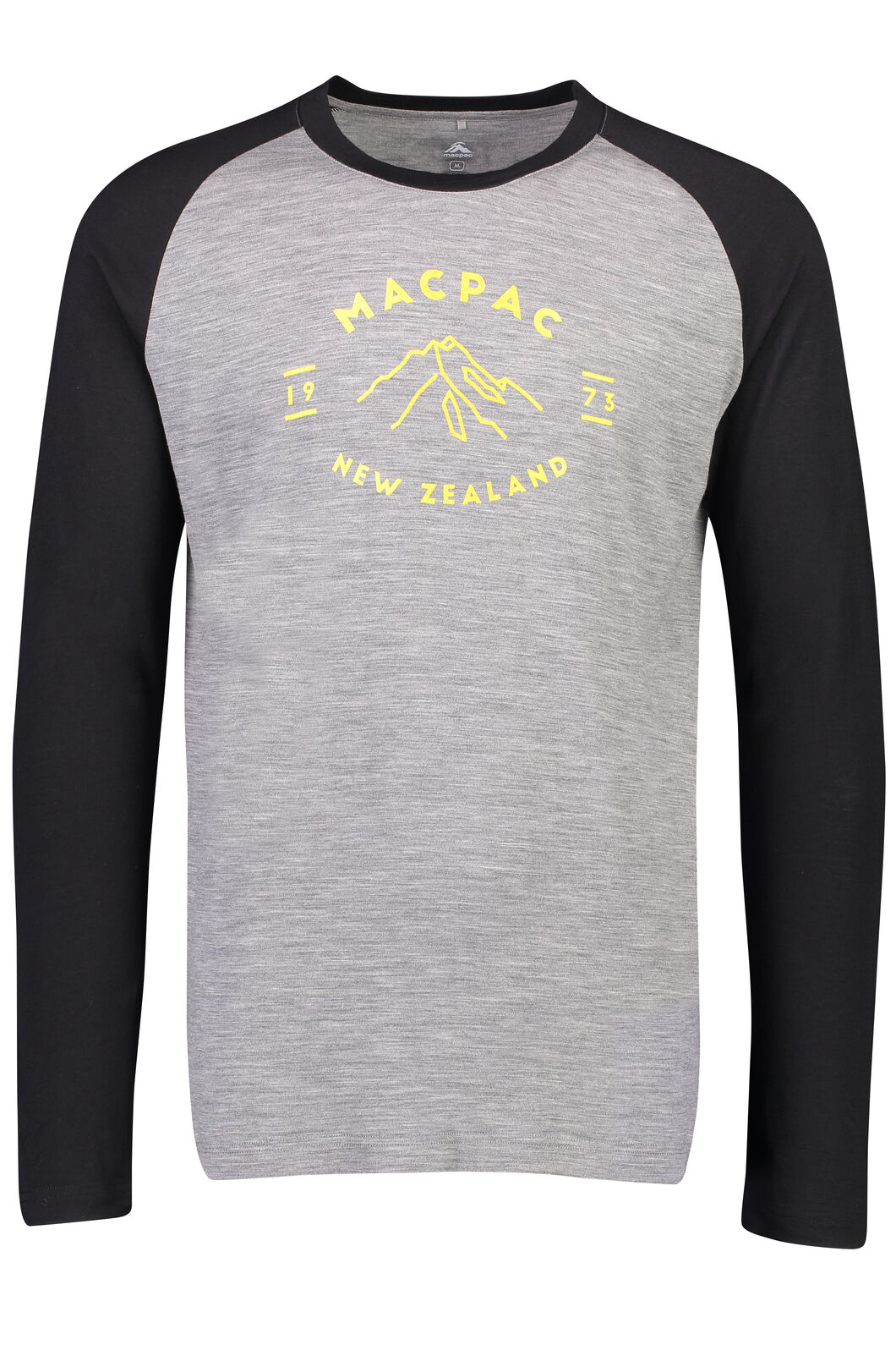 Macpac Mountain Merino 180 Long Sleeve Crew - Men's, Monument, hi-res