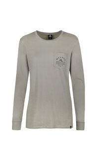 Macpac Alps Organic Long Sleeve Tee — Women's, Seagrass, hi-res
