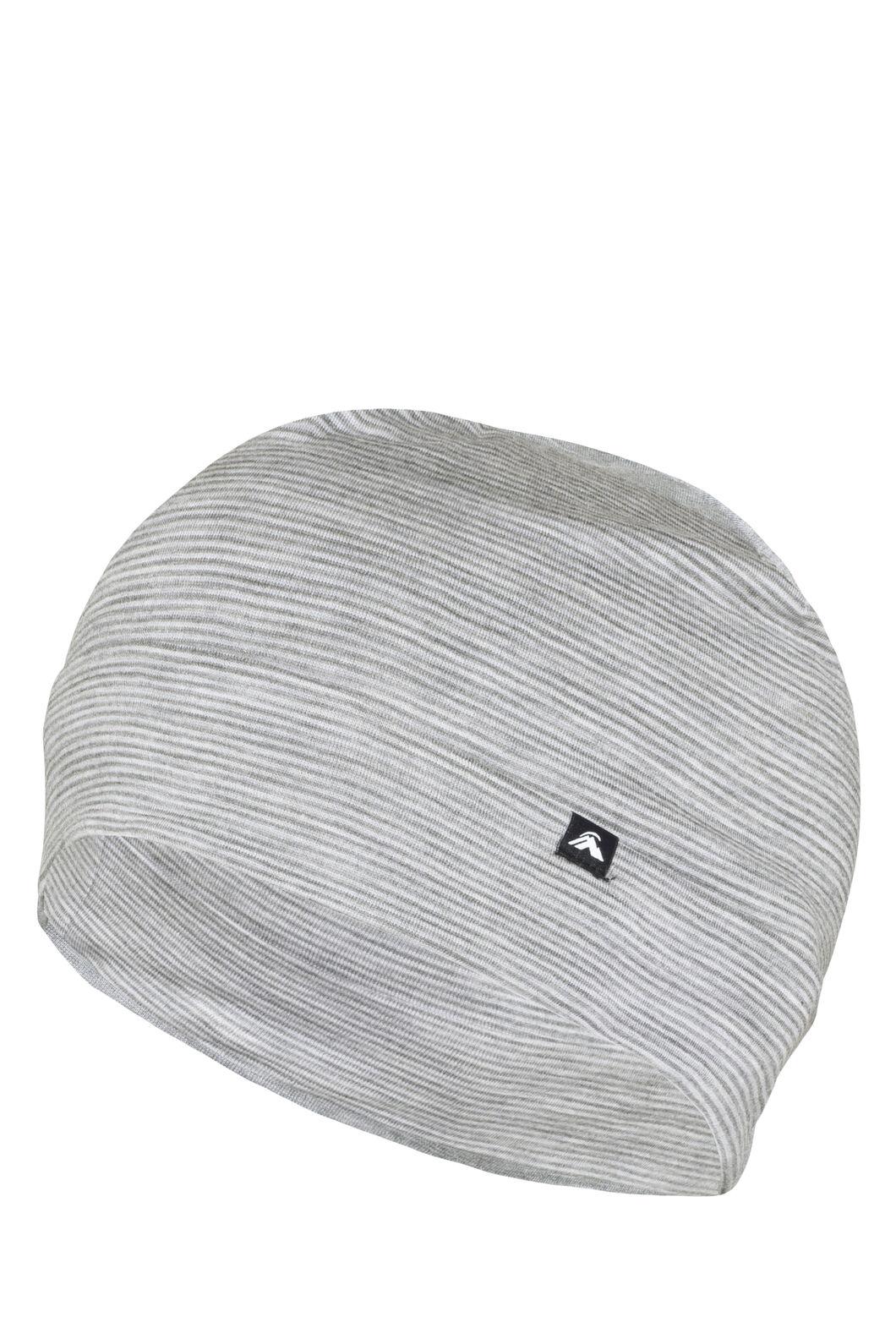 Macpac Merino 150 Beanie, Light Grey Stripe, hi-res