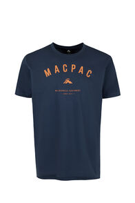Macpac Graphic Organic Tee — Men's, Mood Indigo, hi-res