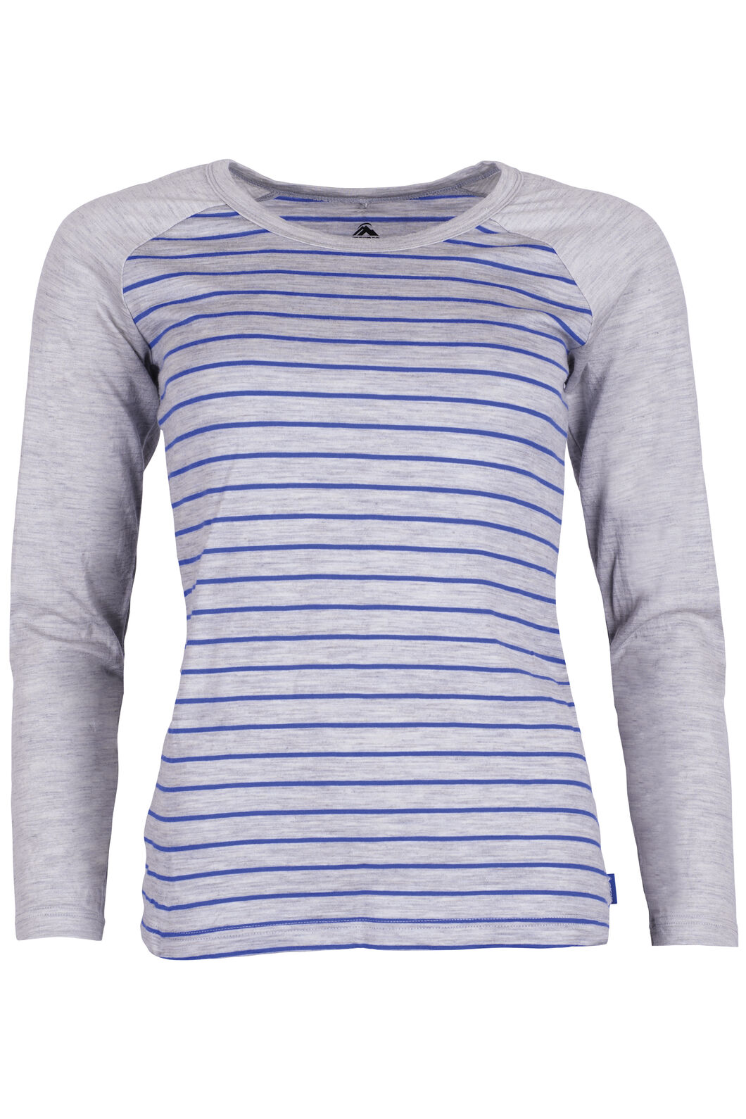 Macpac Victoria 180 Scoop Top Womens, Dazzling Stripe/L. Grey Marle, hi-res