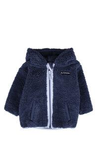 Macpac Acorn Fleece Jacket — Baby, Black Iris/Blue Fog, hi-res