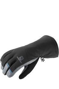 Salomon Propeller Long Gloves — Men's, Black/Galet Grey, hi-res