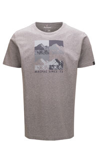 Macpac Men's Quattro Mountain Fairtrade Organic Cotton Tee, Grey Marle, hi-res