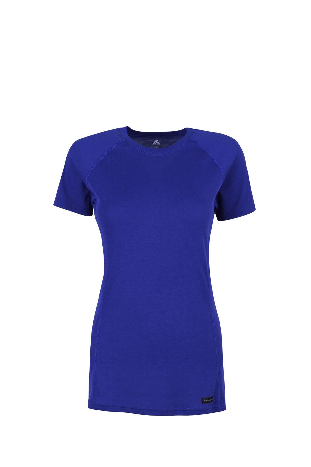 Macpac Geothermal Short Sleeve Top — Women's, Clematis Blue, hi-res