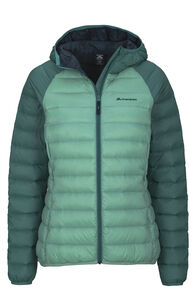 Women's Uber Light Hooded Down Jacket, Wasabi/Hyrdro, hi-res