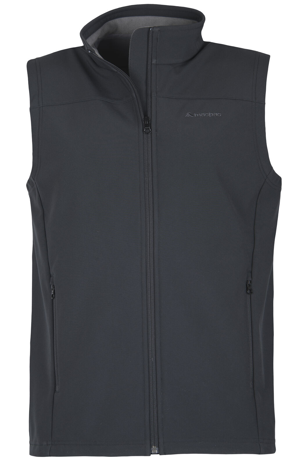 Macpac Sabre Softshell Vest - Men's, Black, hi-res