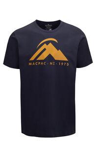 Macpac Mountain Fairtrade Organic Cotton Tee — Men's, BLUE NIGHTS, hi-res