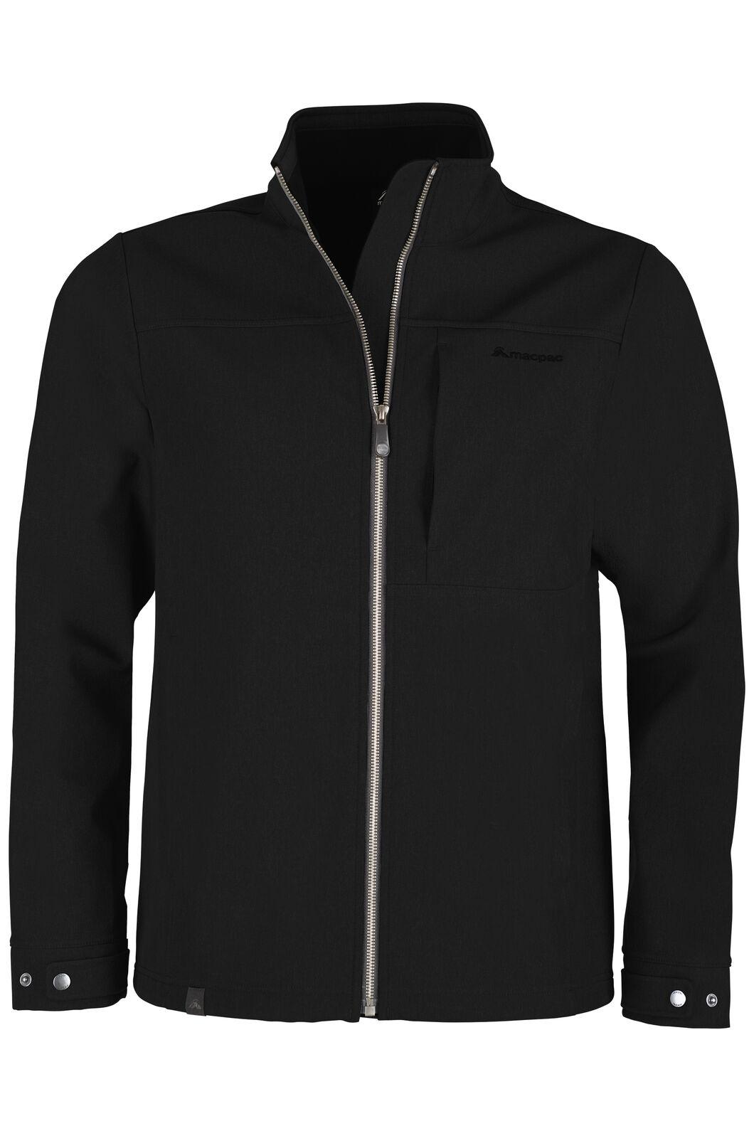 Macpac Chord Softshell Jacket - Men's, Black, hi-res