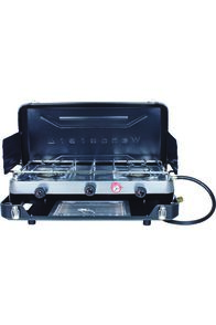 Wanderer 2 Burner LPG Portable Stove with Grill, None, hi-res