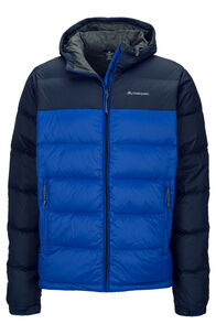Macpac Halo Hooded Down Jacket — Men's, Surf the Web/Total Eclipse, hi-res