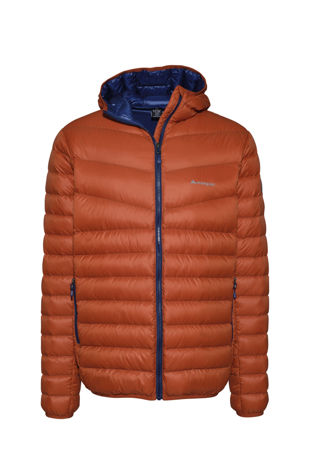 Macpac Mercury Hooded Down Jacket — Men's, Rooibos Tea, hi-res